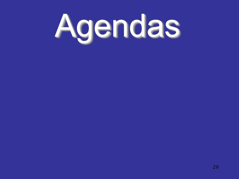 Agendas 29 29