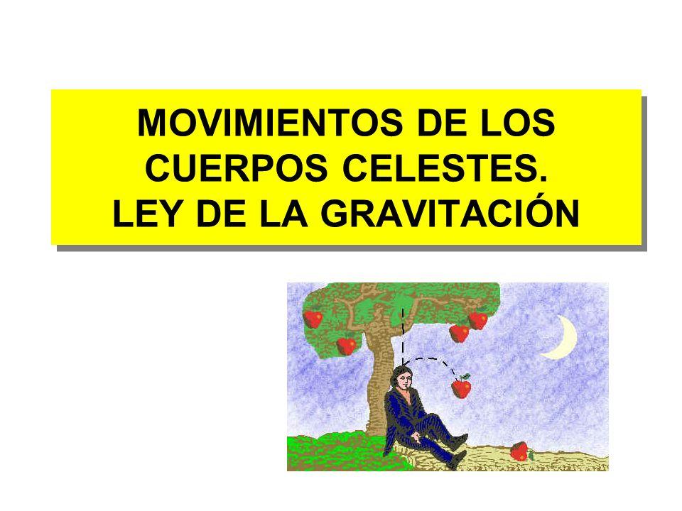 MOVIMIENTOS DE LOS CUERPOS CELESTES. LEY DE LA GRAVITACIÓN