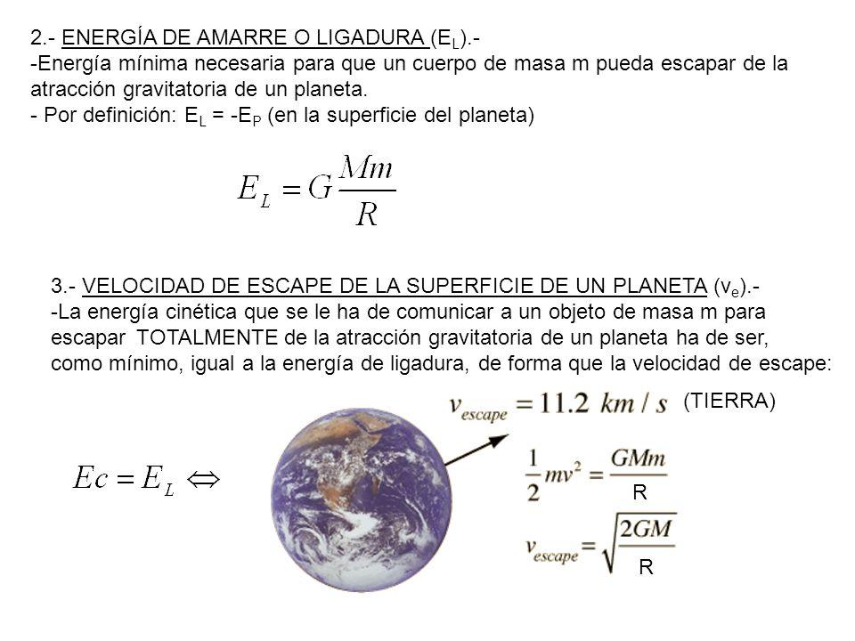 2.- ENERGÍA DE AMARRE O LIGADURA (EL).-