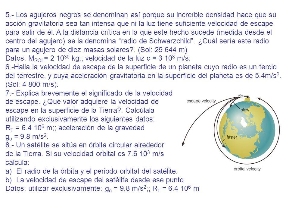 5.- Los agujeros negros se denominan así porque su increíble densidad hace que su