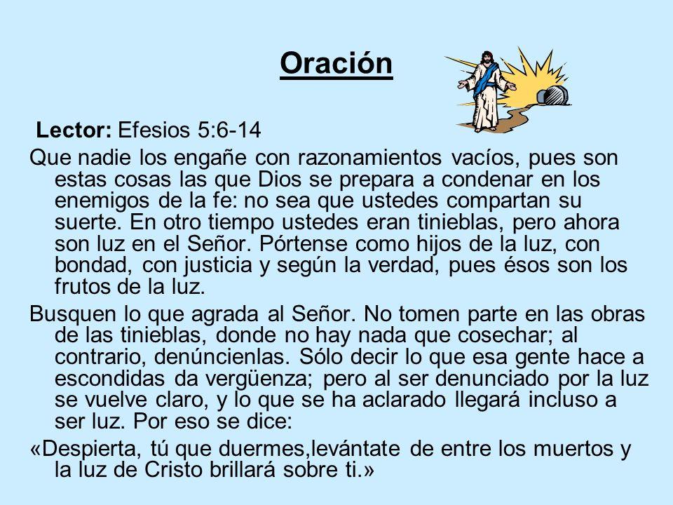 Oración Lector: Efesios 5:6-14