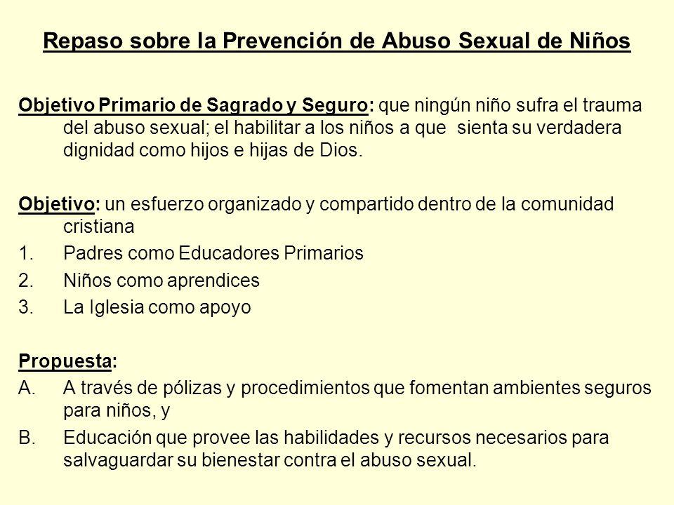 Repaso sobre la Prevención de Abuso Sexual de Niños