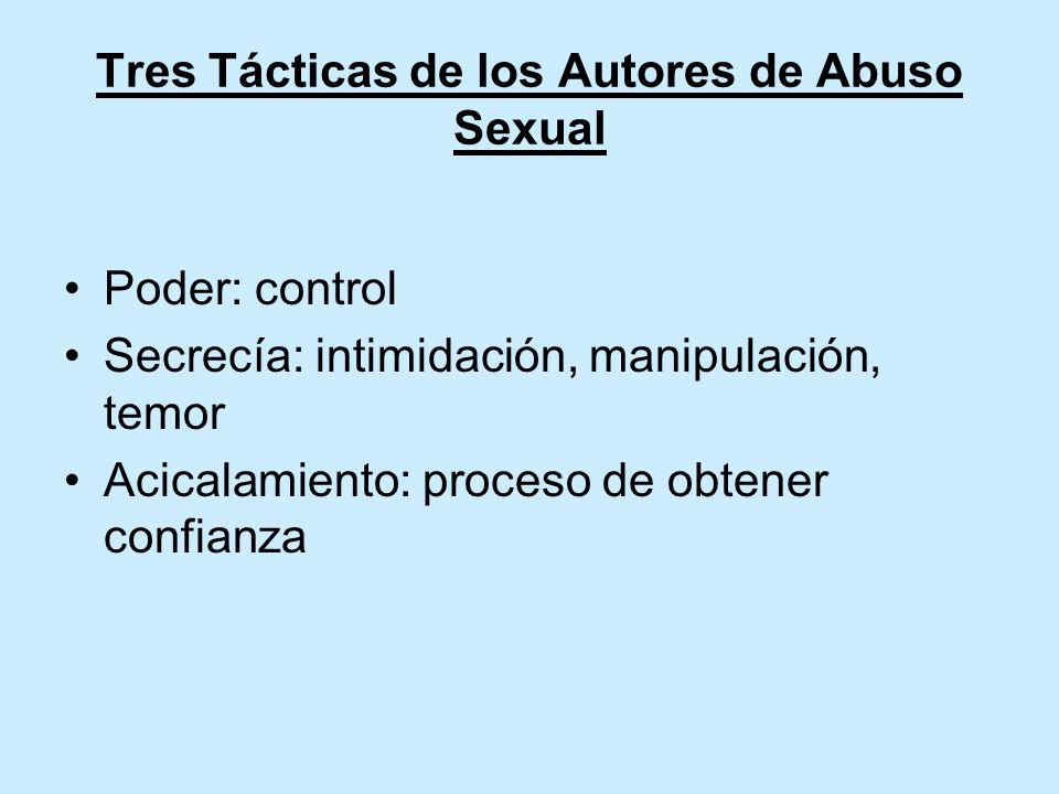 Tres Tácticas de los Autores de Abuso Sexual