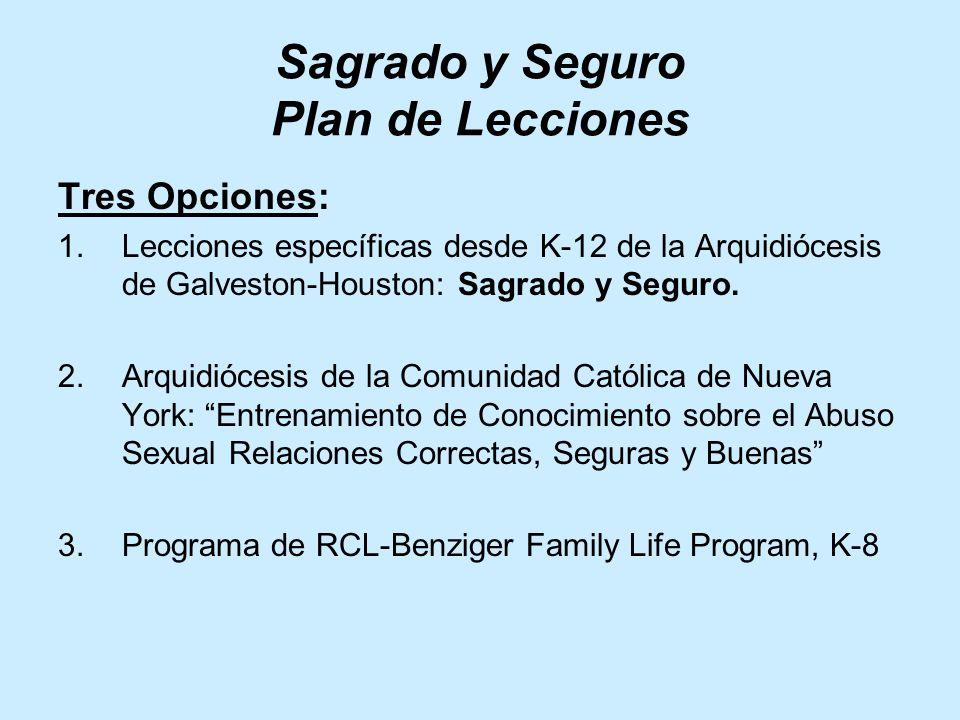 Sagrado y Seguro Plan de Lecciones