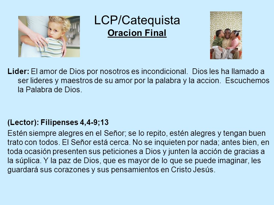 LCP/Catequista Oracion Final