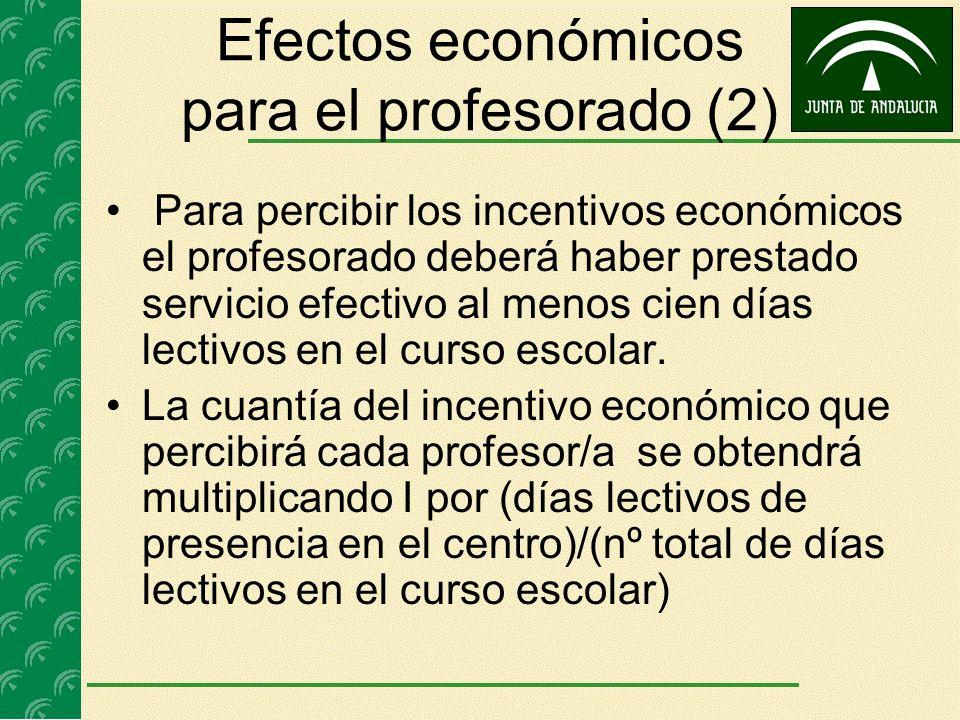 Efectos económicos para el profesorado (2)