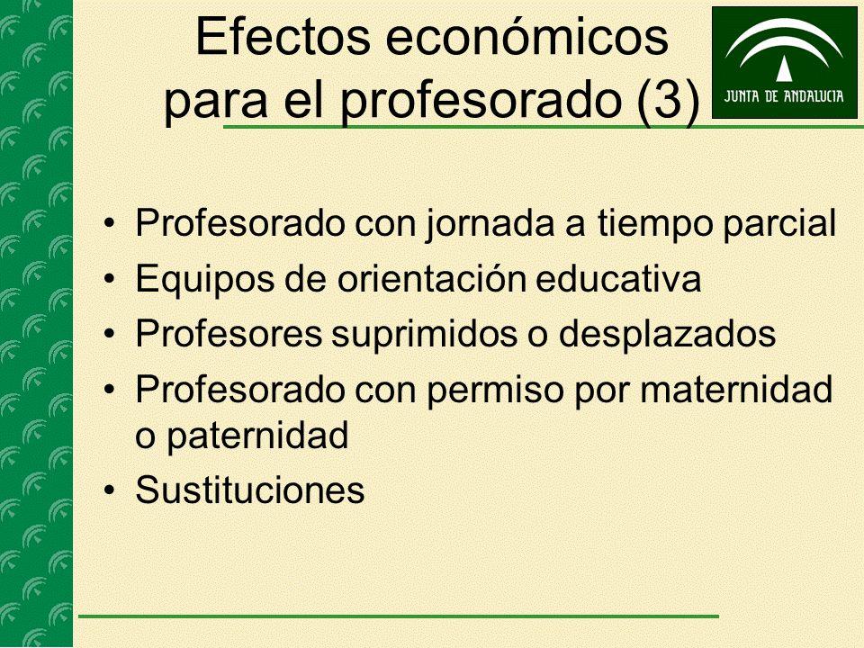 Efectos económicos para el profesorado (3)