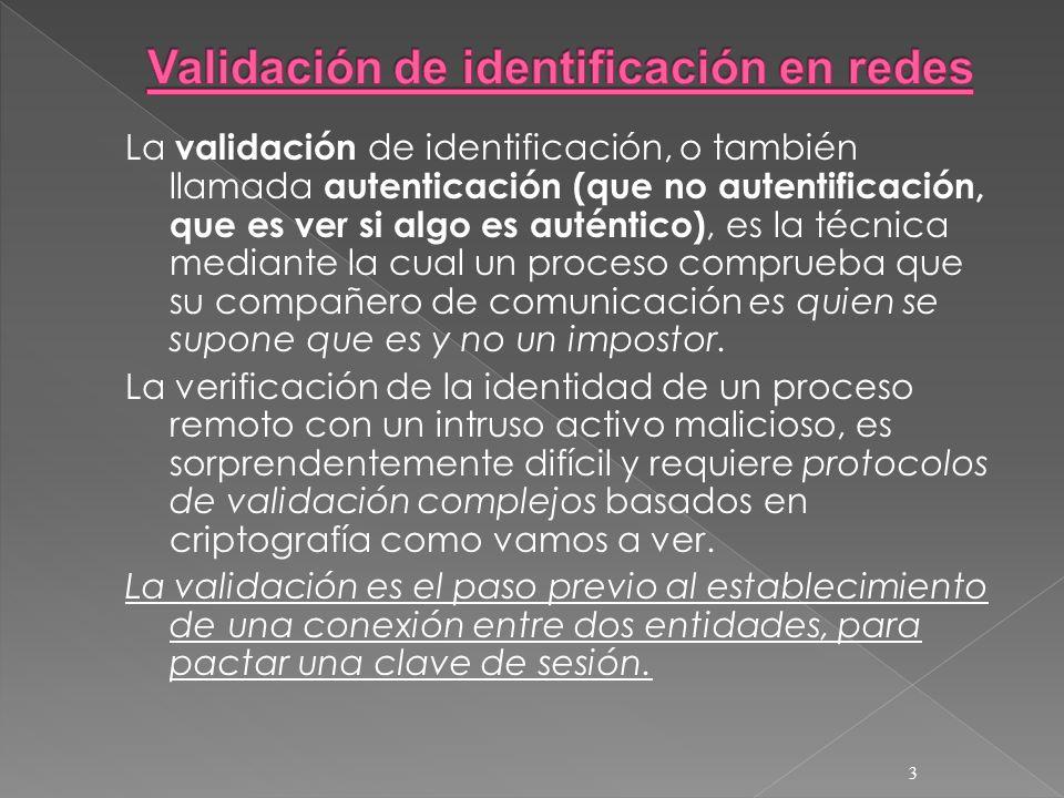 Validación de identificación en redes