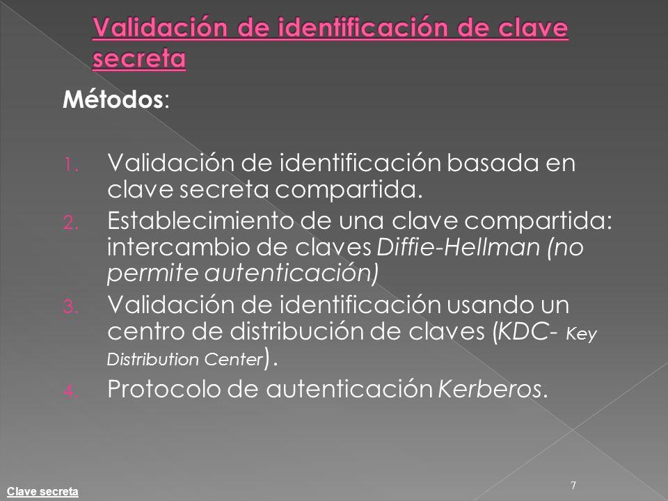 Validación de identificación de clave secreta