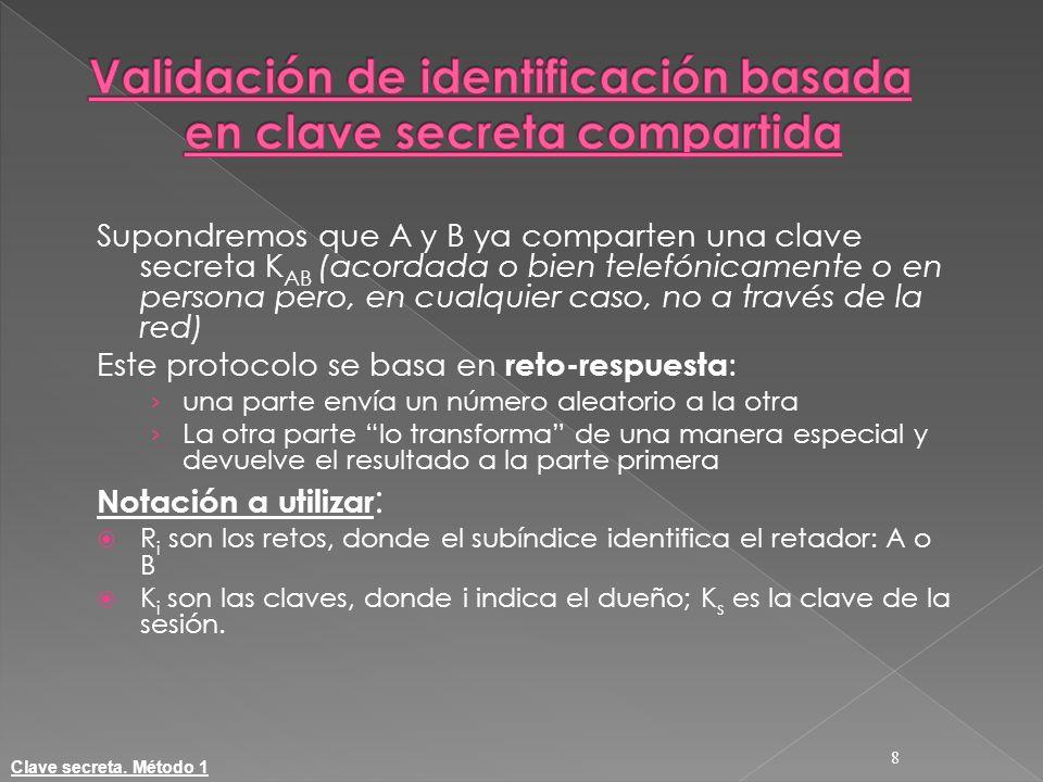 Validación de identificación basada en clave secreta compartida