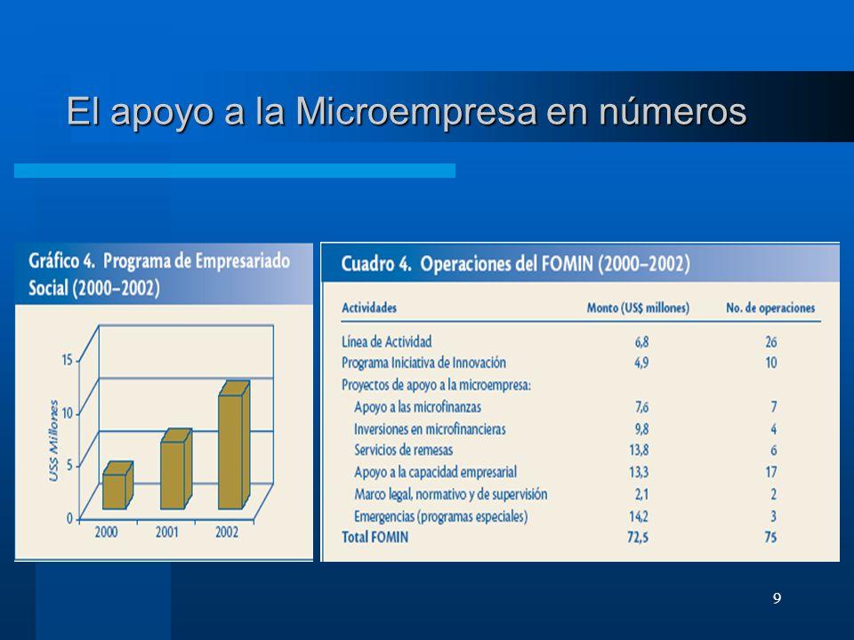 El apoyo a la Microempresa en números