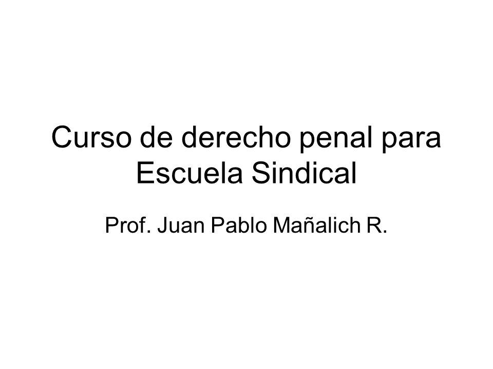 Curso de derecho penal para Escuela Sindical