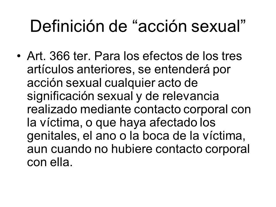 Definición de acción sexual