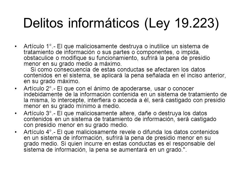 Delitos informáticos (Ley 19.223)