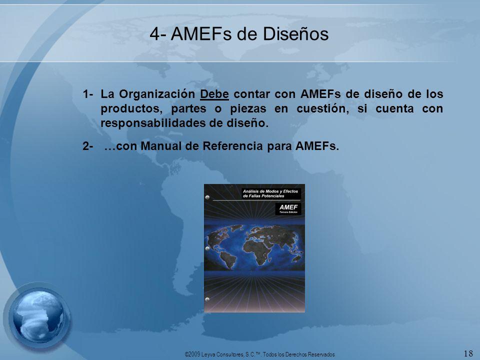 4- AMEFs de Diseños