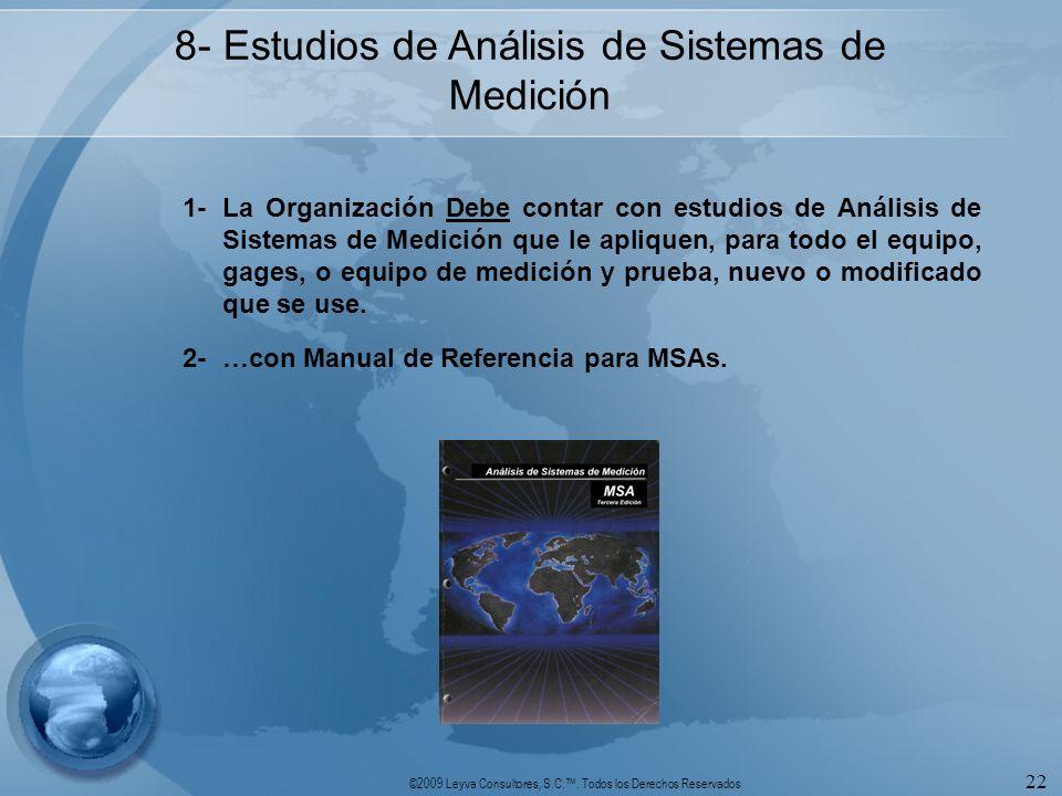 8- Estudios de Análisis de Sistemas de Medición