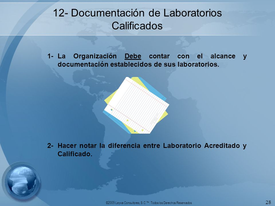 12- Documentación de Laboratorios Calificados