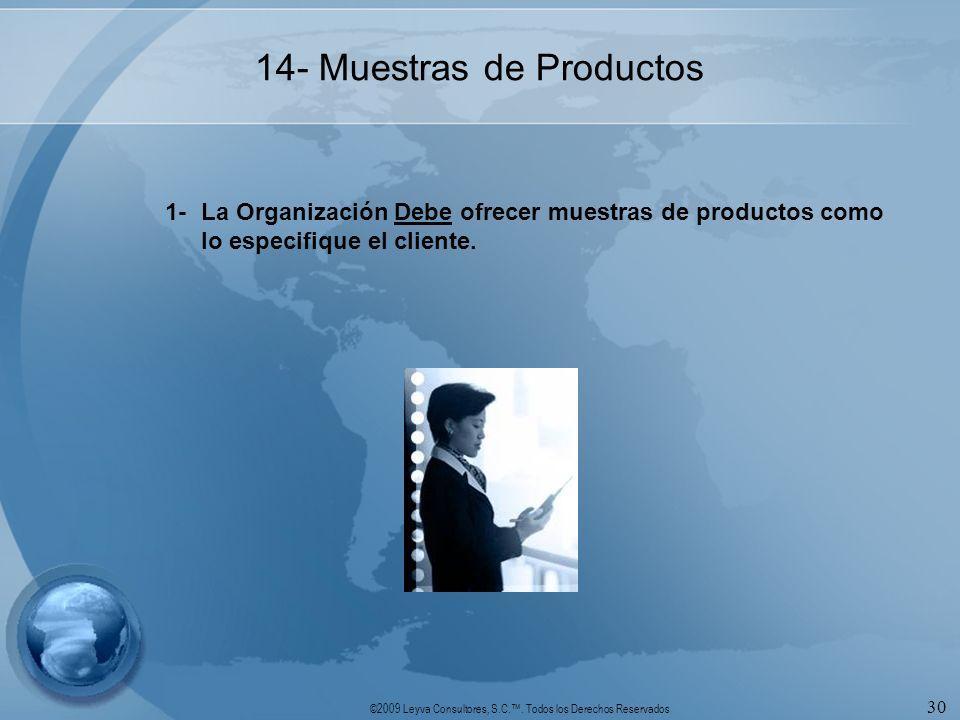 14- Muestras de Productos