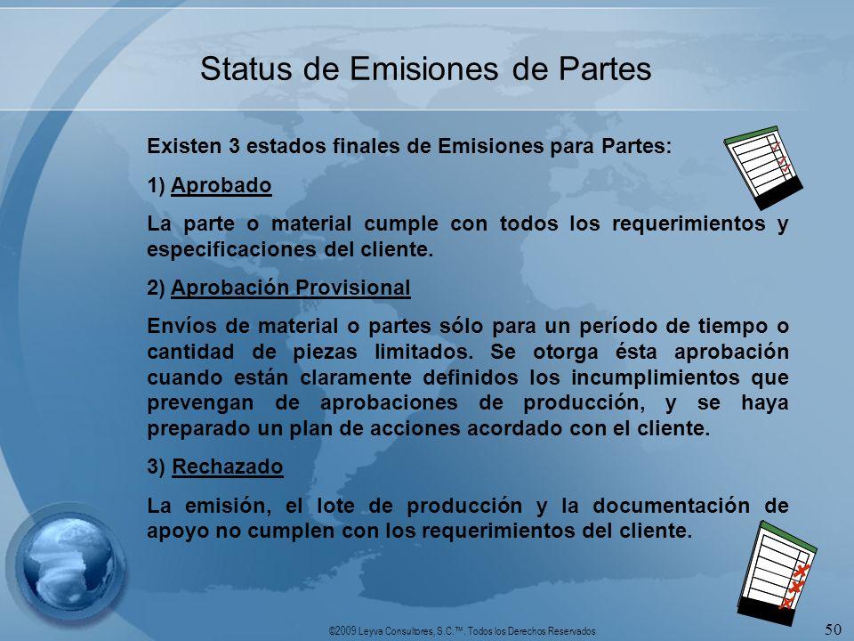Status de Emisiones de Partes