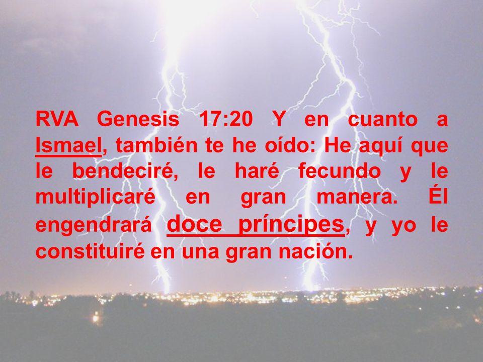 RVA Genesis 17:20 Y en cuanto a Ismael, también te he oído: He aquí que le bendeciré, le haré fecundo y le multiplicaré en gran manera.