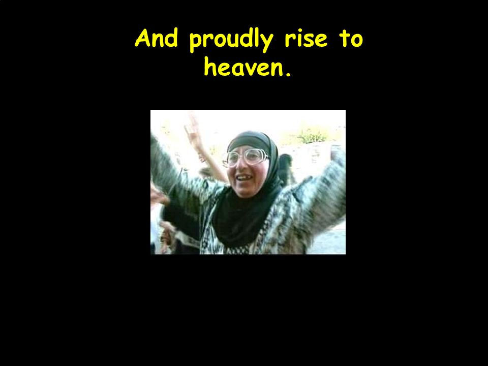 And proudly rise to heaven.