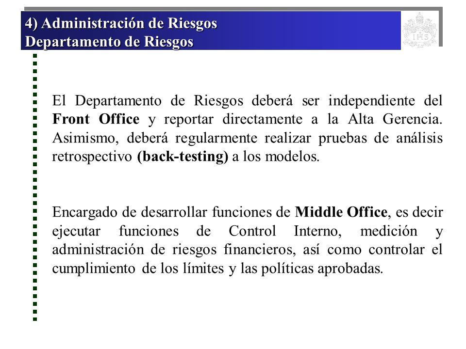 4) Administración de Riesgos Departamento de Riesgos