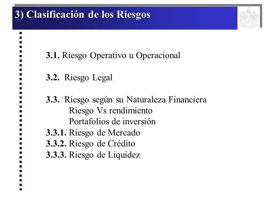 3) Clasificación de los Riesgos