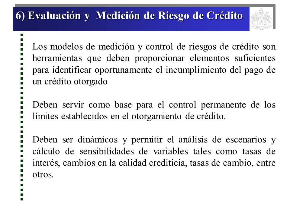 6) Evaluación y Medición de Riesgo de Crédito