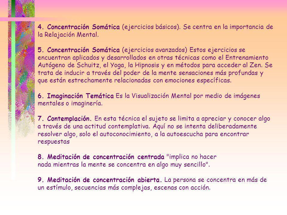 4. Concentración Somática (ejercicios básicos)