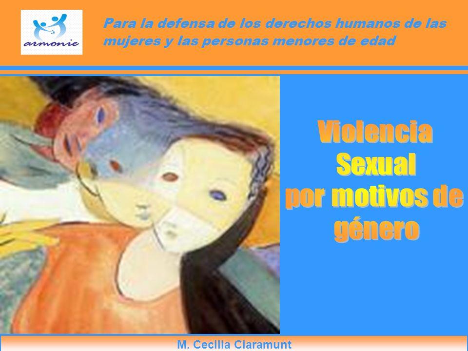 Para la defensa de los derechos humanos de las mujeres y las personas menores de edad