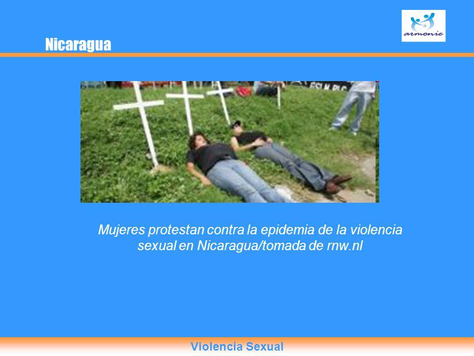 Nicaragua Mujeres protestan contra la epidemia de la violencia sexual en Nicaragua/tomada de rnw.nl.
