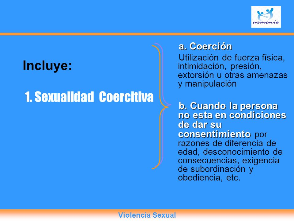 1. Sexualidad Coercitiva