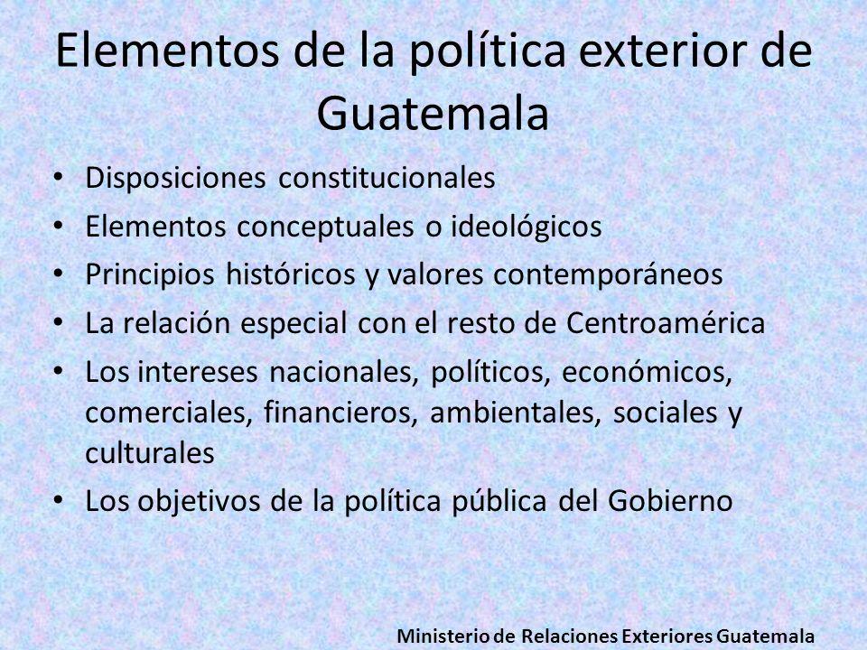 Elementos de la política exterior de Guatemala