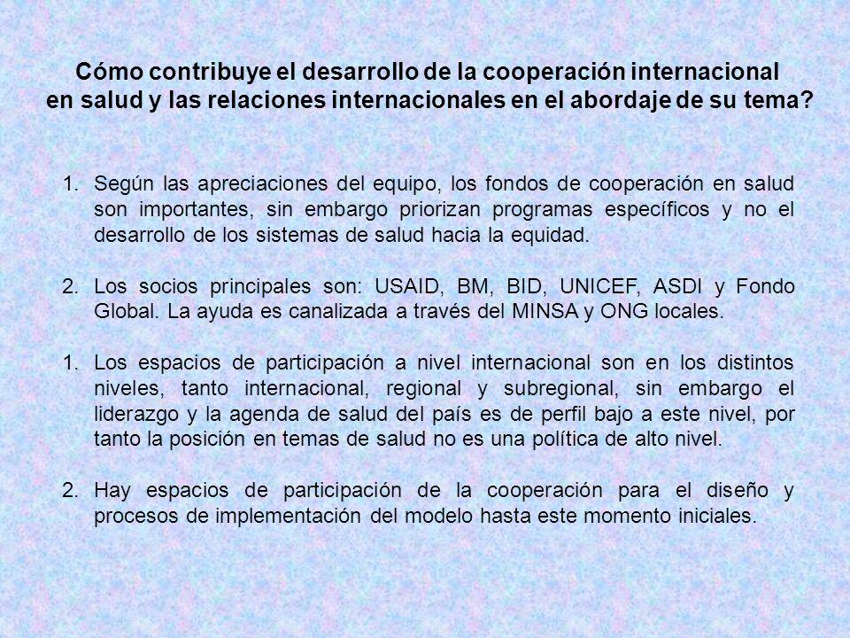 Cómo contribuye el desarrollo de la cooperación internacional