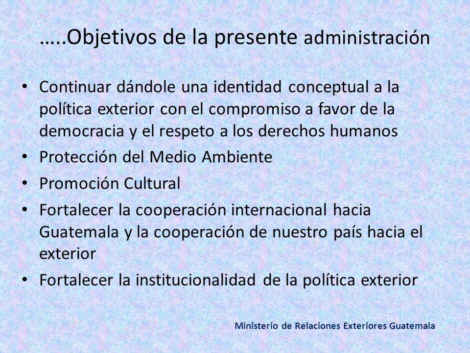 …..Objetivos de la presente administración
