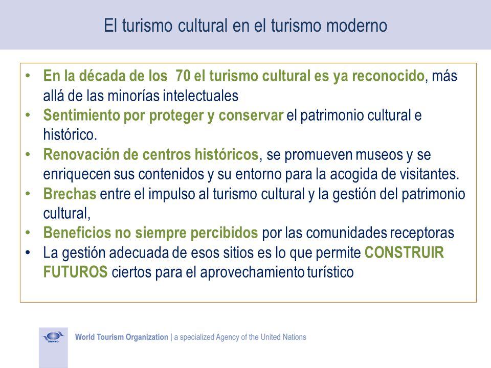 El turismo cultural en el turismo moderno