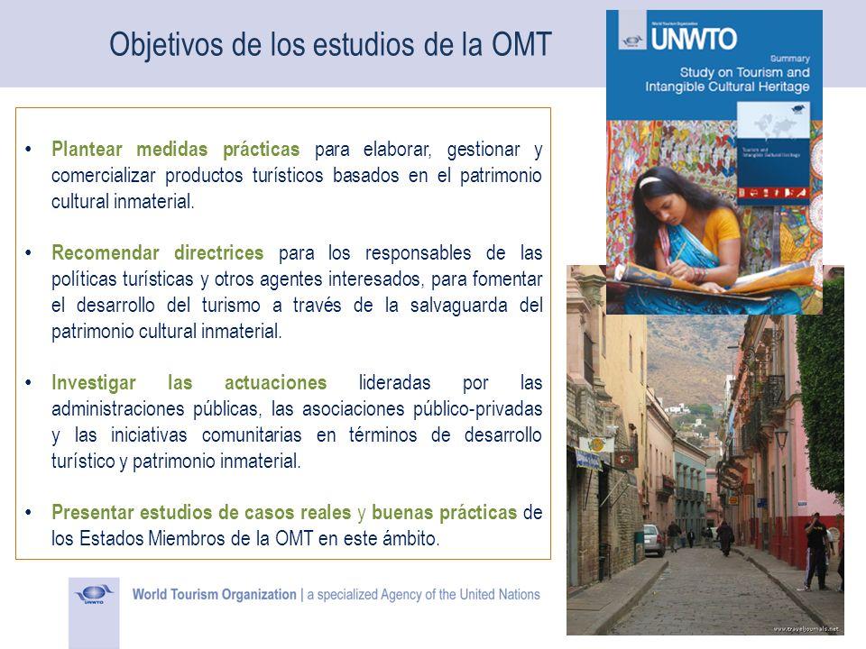 Objetivos de los estudios de la OMT