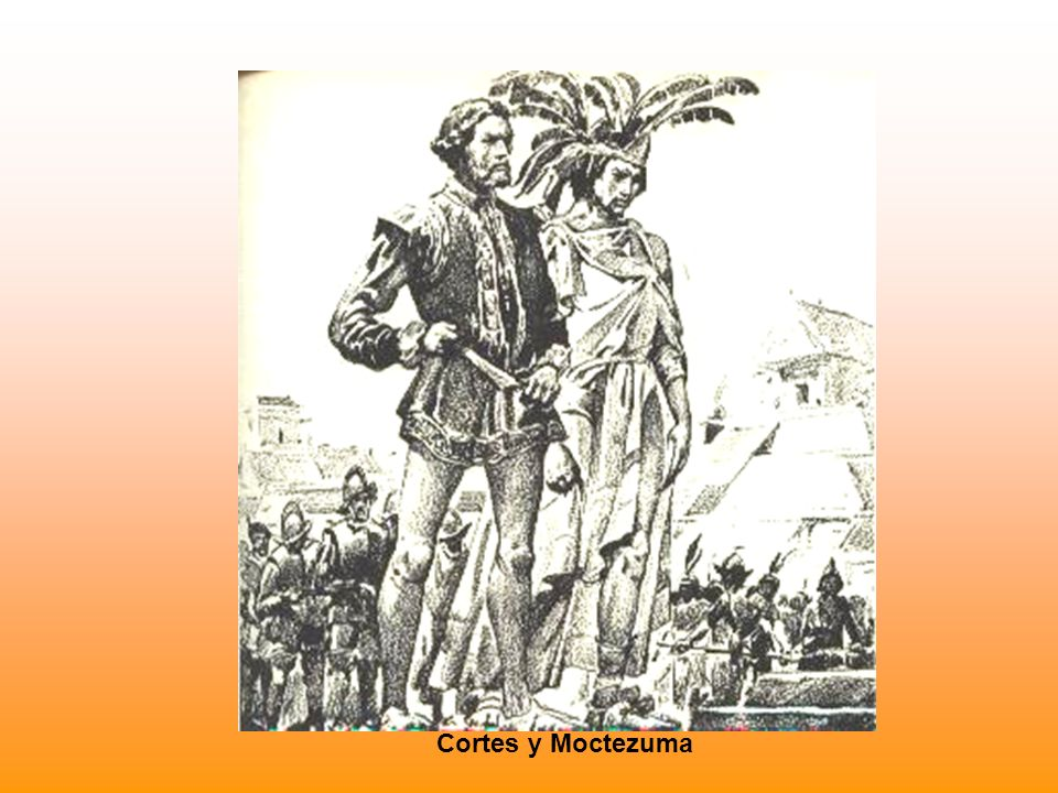 Cortes y Moctezuma