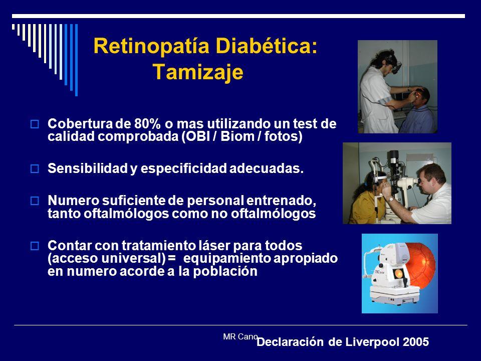 Retinopatía Diabética: Tamizaje
