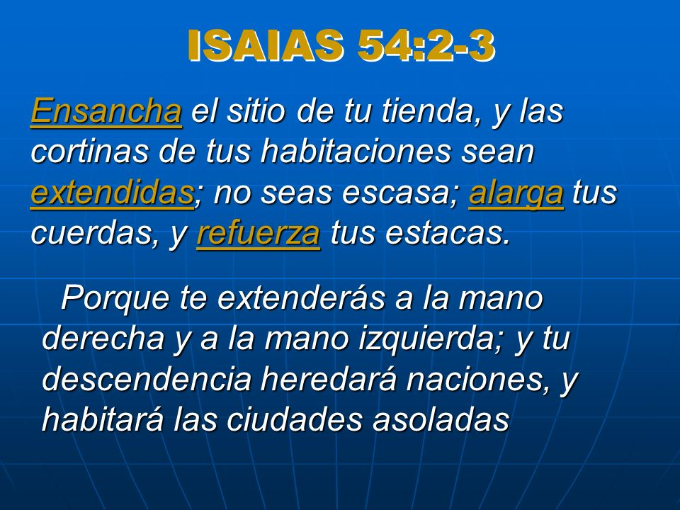 ISAIAS 54:2-3