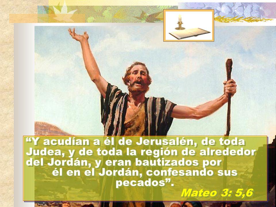 él en el Jordán, confesando sus pecados .