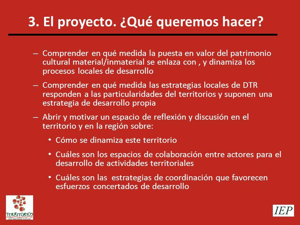 3. El proyecto. ¿Qué queremos hacer