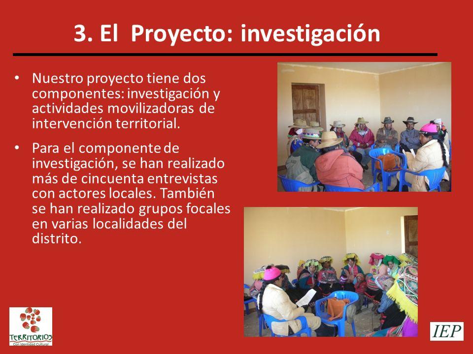 3. El Proyecto: investigación