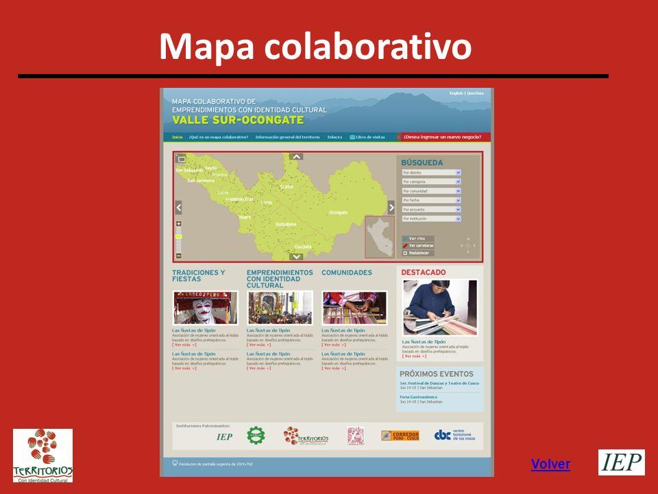 Mapa colaborativo Volver
