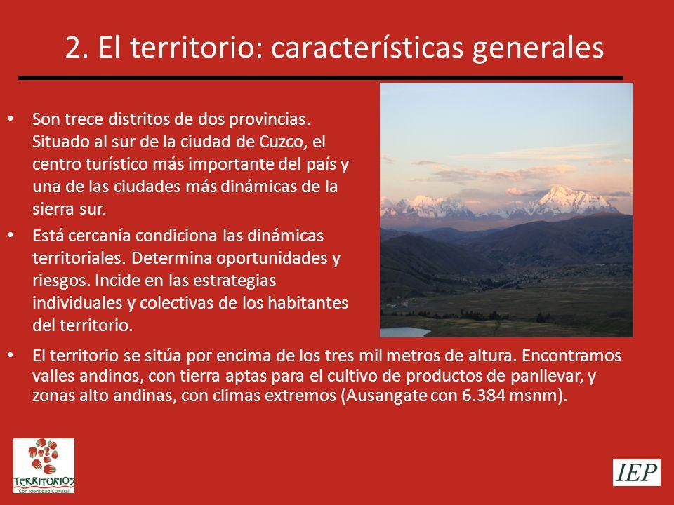 2. El territorio: características generales