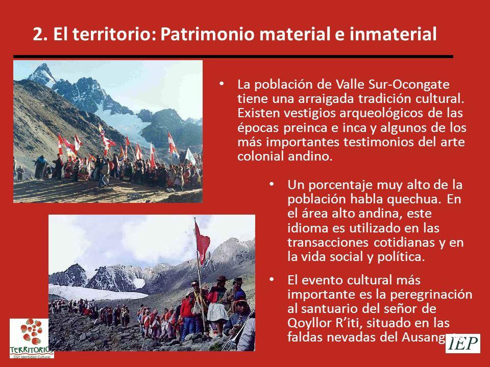 2. El territorio: Patrimonio material e inmaterial
