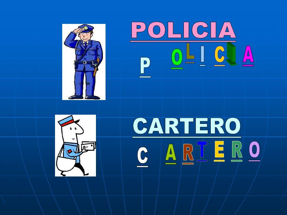 POLICIA L I C I A O P CARTERO T E R O A R C