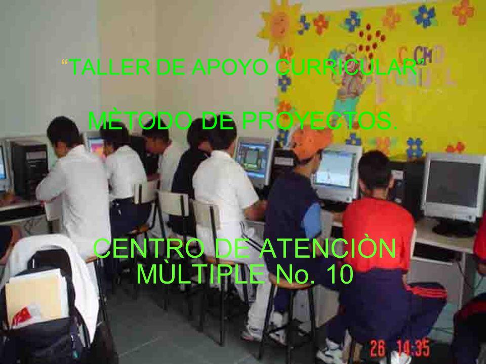 TALLER DE APOYO CURRICULAR MÈTODO DE PROYECTOS.