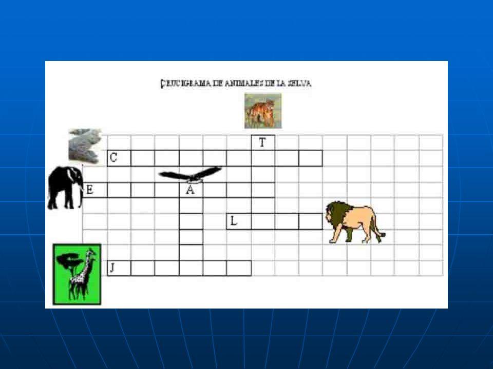 CRUCIGRAMA DE ANIMALES DE LA SELVA