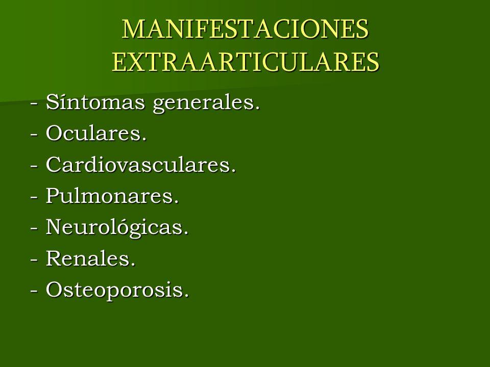 MANIFESTACIONES EXTRAARTICULARES